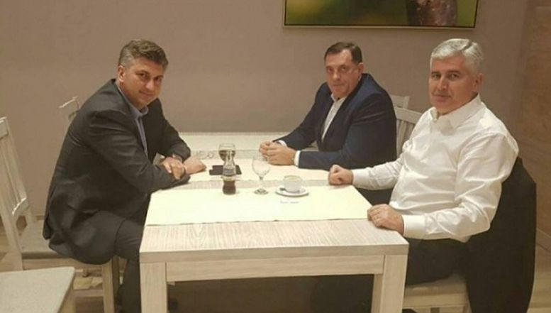 Andrej Plenković, Milorad Dodik i Dragan Čović