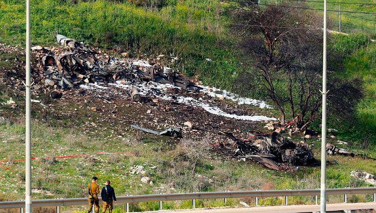 Mjesto srušenog izraelskog aviona