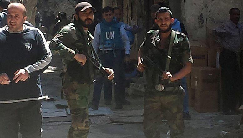 Palestinske snage koje brane kamp Jarmuk